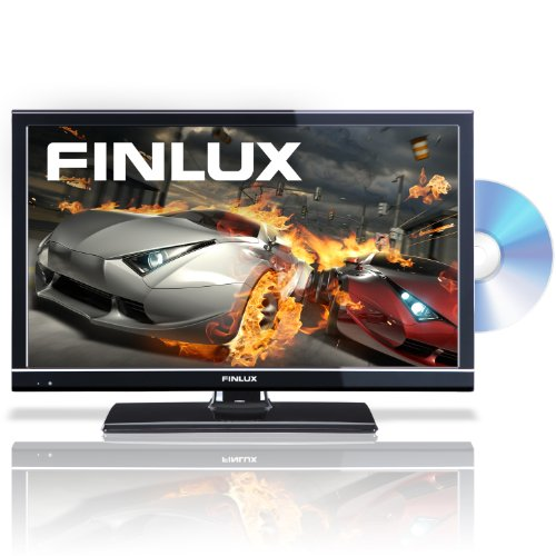 Finlux 24H6072-D 24 Inch Widescreen HD Ready 720p LED Multi-Region DVD Combi TV with Freeview & PVR, Black