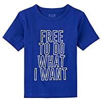 The Children's Place Boys' Do What I Want Graphic T-Shirt, 18-24 Months, Mazarine Blue