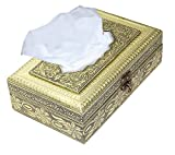 #4: Rectangle Handmade attractive wooden Oxodised work tissue box / tissue holder / napkin holder / napkin box / antique tissue box for home,car and Office