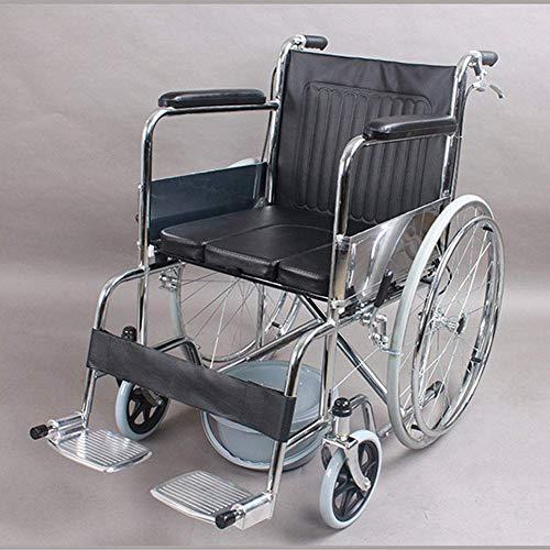 Y-L Behinderte Ältere Menschen Klappbarer, Tragbarer Älterer Rollstuhl und Behinderter Handbremssitz Rollstuhl Rollstuhl, Fahren Medizinischer Bedarf für Erwachsene Ohne Toilette Aufblasbar