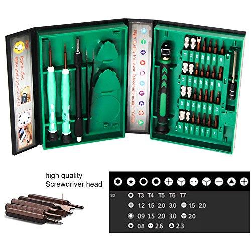 Preisvergleich Produktbild 38 in 1 Präzisions-Schraubenzieher, Reparatur Set Werkzeug Kit für Smartphones, Ipad, Iphones,Tablets, Computer, Laptops, Uhren und andere elektronische Geräte. Unodeco U004