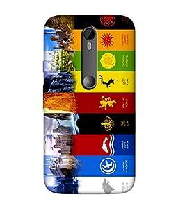 Motorola Moto G Turbo Designer / Printed Back Cover -(game of thrones)
