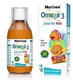 Marinox Omega-3 Saft für Kinder | Nahrungsergänzungsmittel mit hochkonzentrierten Omega-3 Fettsäuren aus Meeresfischen und Vitaminen | 125 ml