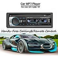 ATian Coche MP3/WMA Reproductor TFT Pantalla FM Radio AM Coche 4 Altavoz Video-Support SD/USB/MMC ID3 Pantalla Con Bluetooth Mano Libre llamada y Integrado EQ + Control Remoto + Volante Clave Contr