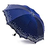 Libing Damen-kompakter faltender Reisesonnenschirm-Anti-UVschutz, Königsblau