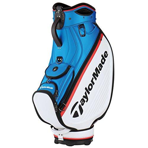TaylorMade 2018 Golf Tour Cart Bag Mens Trolley 6 Way Velour Top White/Blue/Red (Bag Tour Golf)