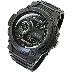 [Lad Wetter] Triple Time/100 m Wasser Widerstand/Analog Digital Display/Military Armbanduhr