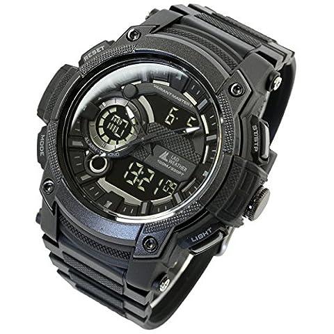 [Lad Wetter] Triple Time/100m Wasser Widerstand/Analog Digital Display/Military Armbanduhr