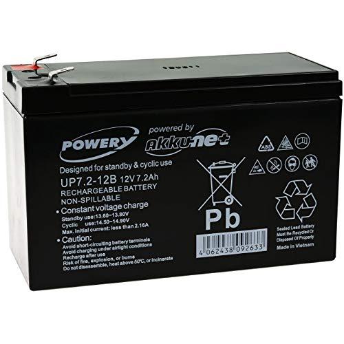 Powery Batería de GEL 12V 7