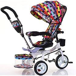 Vélo Guo Shop- Poussette Pliable de Pied de bébé de Bicyclette de Tricycle d'enfants 1-6 Ans Roue Gonflable (Couleur : #1)