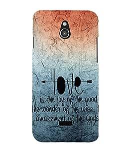 EPICCASE creation of god Mobile Back Case Cover For Infocus M2 (Designer Case)