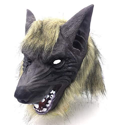 folowe Latex Tier Styling Handschuhe Kopf Maske Kopfbedeckung Spielzeug Maskerade Performance (Tier Maskerade Masken)