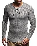 Leif Nelson Sweater-Grau-Schwarz XX-Large