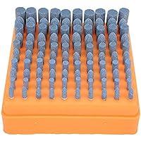 Cabezal de pulido de Picapiedra, Cabezal de esmerilado de Picapiedra Rueda de arena Abrasivo Corindón de cromo Vástago de 3 mm de diámetro Azul para pulido de bricolaje, Jade de pulido (100 piezas)