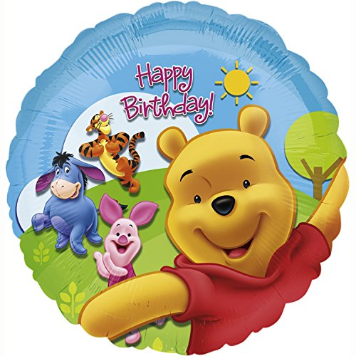 NEU Folienballon Pooh & Friends Sunny B.day, 45 (Kostüme Sunny Day)