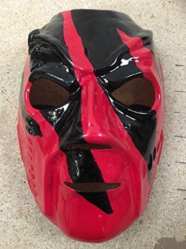 Kane Debut Hell In A Handy - WWE Wrestling Kostüm geschnürt Kostüm Maske - Halloween - mit elastischer band (Halloween Wrestling Kostüme)