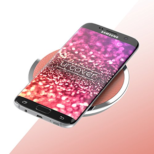 URCOVER® Caricatore Caricabatterie Qi Wireless Senza Fili per iPhone / Samsung / Huawei / Nokia / Htc / Sony Xperia / Lg / Motorola | Stazione di ricarica a induzione Qi [ Bianco ] Magic Disk 3 Marrone