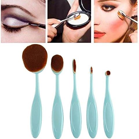FEITONG Spazzole di trucco 5pc / set spazzolino da denti Stile sopracciglio pennello Fondazione Eyeliner