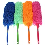 Plumeau outil anti poussière nettoyeur nettoyage plume magique microfibre douce orange