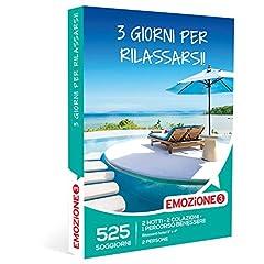 Idea Regalo - Emozione3 - Cofanetto Regalo - 3 Giorni per Rilassarsi! - 525 rilassanti soggiorni in Hotel 3 o 4 Stelle