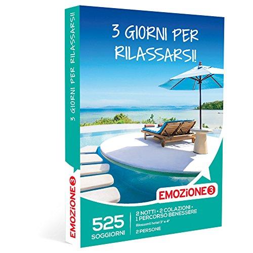 Emozione3 - cofanetto regalo - 3 giorni per rilassarsi! - 525 rilassanti soggiorni in hotel 3 o 4 stelle