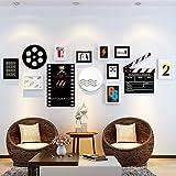 Home @ Cornice per foto Set di pareti semplici della cornice fotografica di 9, combinazione della parete creativa della parete della sedia della sospensione del bambino Photo Combination della parete Decorativi Dipinti Set ( Colore : A )