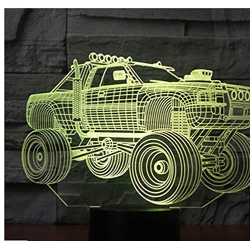 BMY 3D Led Nachtlicht Panzer SUV Panzerwagen mit 7 Farben Licht für Heimtextilien Lampe Erstaunliche Visualisierung Off-Road V