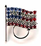 Calabria American Flag Eyeglass Holder Pin 3-Pack Special