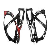 Lixada Porta Borraccia Fibra di Carbonio Completa Super Leggero Bici Ciclismo Gabbia Porta Bottiglia … (2PCS)
