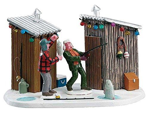 Lemax - Friendly Competition - Vater und Sohn beim Angeln - Zubehör - Christmas Village - Weihnachtswelt -