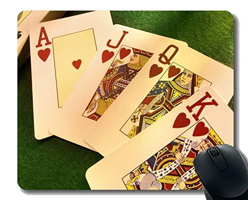 Gaming Mouse Mat, Pokerkarte Gummi-Mousepad genähte Border