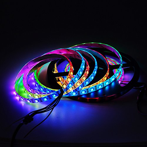 Amazon.de - WS2812B 5M 60 LEDs/Pixels/m 300LEDs RGB addressable 5050 SMD LEDs Waterproof