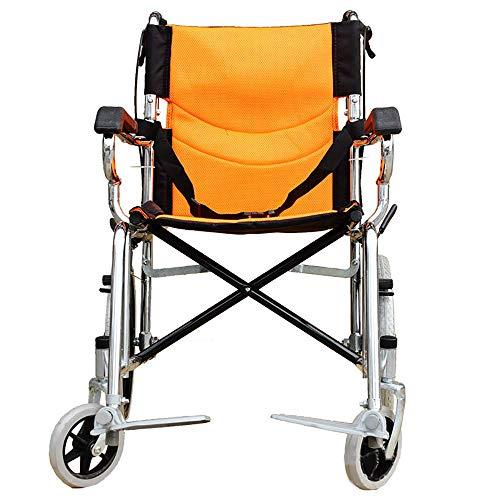 SSLL Rollstühle Leichtgewicht Klappbarer Reise Leicht Transport Mit Selbstantrieb Bremsen Ultraleichter Für Personen Mit Körperlichen Beeinträchtigungen Und ältere Menschen