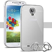 Funda Espejo Aluminio Metal Carcasa para Samsung Galaxy S4 Mini Color Plata