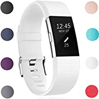 Fitbit Charge 2 Armband, HUMENN Charge 2 Armband Weiches Silikon Sports Ersetzerband Fitness Verstellbares Uhrenarmband für Fitbit Charge2
