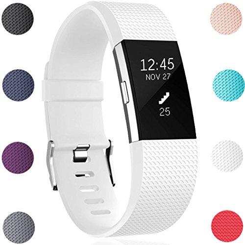 Ersatz Fitbit Charge 2 Armband, HUMENN Weich Verstellbares Armband mit Klassisch Schnalle für Fitbit Charge 2 Small Schwarz