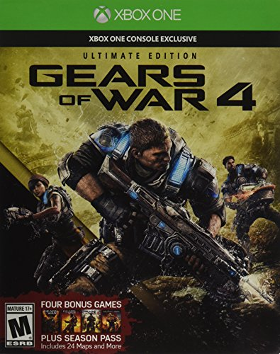 Microsoft Gears of War 4: Ultimate Edition (Includes SteelBook with Physical Disc + Season Pass + Early Access) - Xbox One