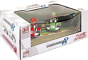Carrera Toys Pull & Speed 15813011, Nintendo Mario Kart 8, 2 Vehículos (Mario y Luigi), 8,5 x 14 x 20 cm