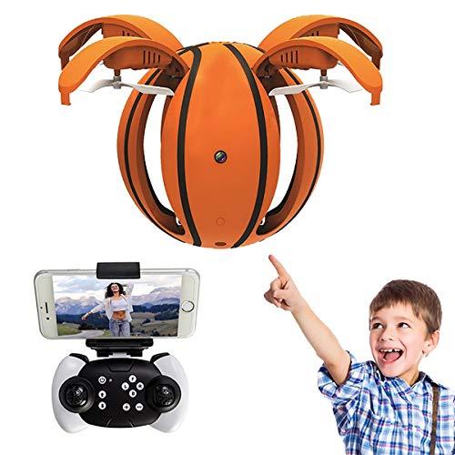 Mini-Basketball-Drohne, RC Flying Ball-Spielzeug, Faltbarer Drei-Geschwindigkeits-Sechs-Achsen-Freisprech-Innen-Small Orb-360 ° -Drehhubschrauber Mit Fernbedienung Urlaub Im Freien,withcamera,100cm