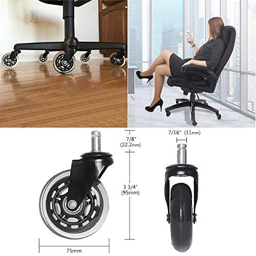 YA-Uzeun1PC Style Rollen Bürostuhl, weiche Rollen, Harte Böden, Ersatz für Stuhlmatte - Baseball-bürostuhl