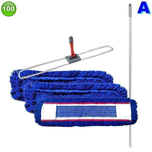 maxxi4you Set mit 3 Wischmopp Wischmop Acryl Industriequalität Waschbar (100 cm)