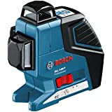 Bosch GLL 3-80 P + BM 1 Professional - Nivel láser de líneas autonivelante, color azul