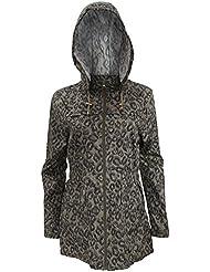 Brave Soul - Chaqueta / abrigo resistente a lluvias débiles con estampado de leopardo para mujer