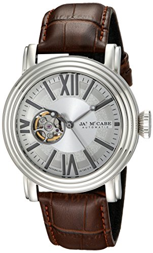 James McCabe Men's JM-1018-02 Victory Analog Display Japanese Automatic Brown Watch