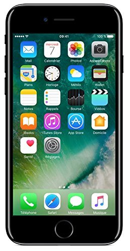 Apple iPhone 7 Smartphone 4G (Display: 4,7' - 32 GB - iOS 10) Jet Black (Ricondizionato)