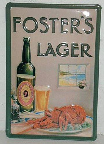 blechschild-fosters-lager-lobster-gewolbt-gepragtautomobilmotorrad-nostalgieschilderkuche