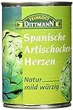 Produkt-Bild: Feinkost Dittmann Artischockenherzen natur, mild-würzig 5/7 Stücke, 3er Pack (3 x 390 g)