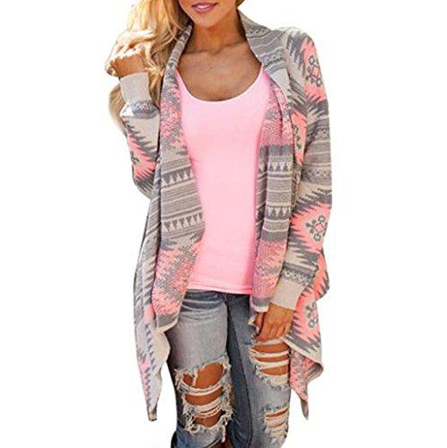 Sannysis® Cardigan Jersey de Punto Mujer Estampado Talla 34 36 38 40 (M)
