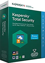 Kaspersky Total Security Latest Version- 3 Users, 1 Year (Multi Device) (CD)