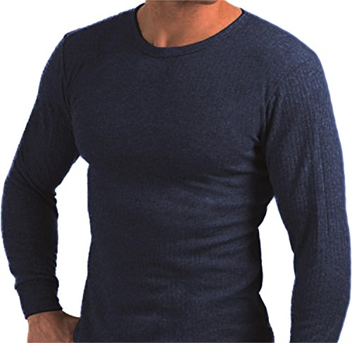 normani 3er Pack Thermohemd Herren-Thermounterwäsche - Thermo-Unterhemd auch in Übergrößen [XS - 4XL] Farbe Blau Größe 8=L